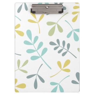 Large Assorted Leaves Color Mix on White Clipboard