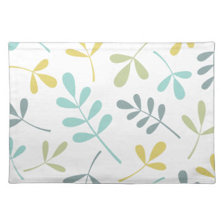 Large Assorted Leaves Color Mix on White Placemat