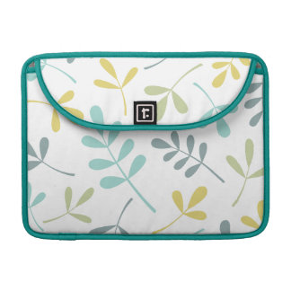 Large Assorted Leaves Color Mix on White Sleeve For MacBooks