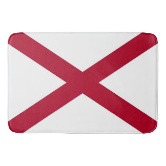 Large bath mat with flag of Alabama, USA
