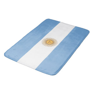 Large bath mat with flag of Argentina