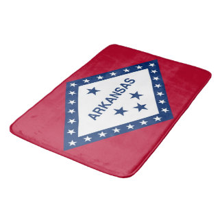 Large bath mat with flag of Arkansas, USA