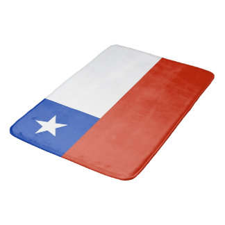 Large bath mat with flag of Chile