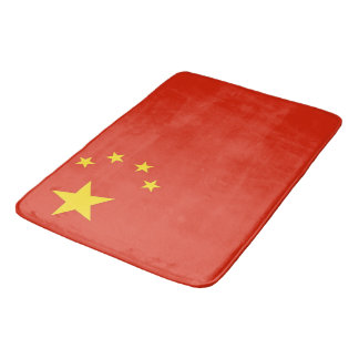 Large bath mat with flag of China