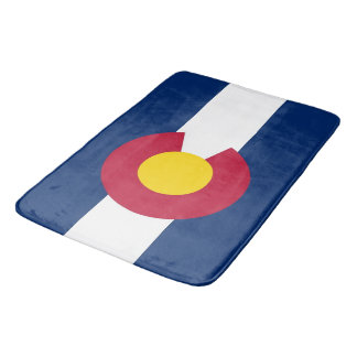 Large bath mat with flag of Colorado, USA