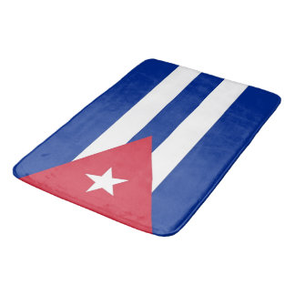 Large bath mat with flag of Cuba