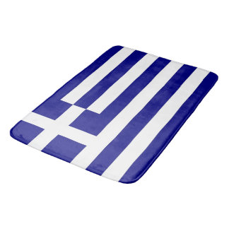 Large bath mat with flag of Greece