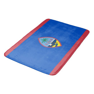 Large bath mat with flag of Guam, USA