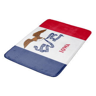 Large bath mat with flag of Iowa, USA