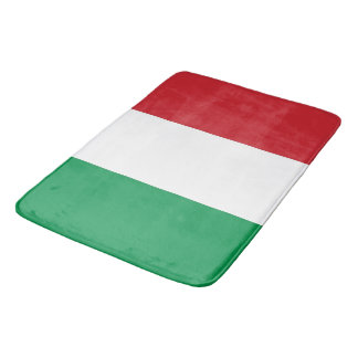 Large bath mat with flag of Italy