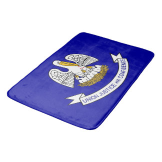 Large bath mat with flag of Louisiana, USA