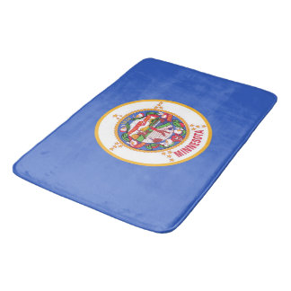 Large bath mat with flag of Minnesota, USA