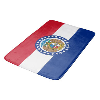 Large bath mat with flag of Missouri, USA