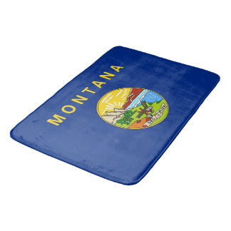 Large bath mat with flag of Montana, USA
