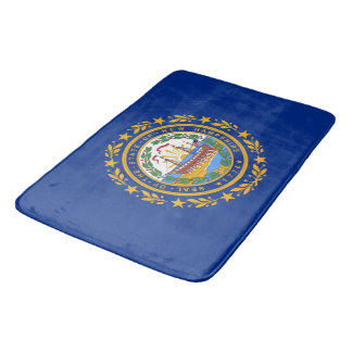 Large bath mat with flag of New Hampshire, USA