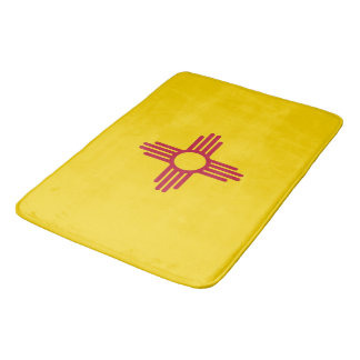 Large bath mat with flag of New Mexico, USA