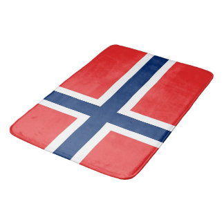 Large bath mat with flag of Norway