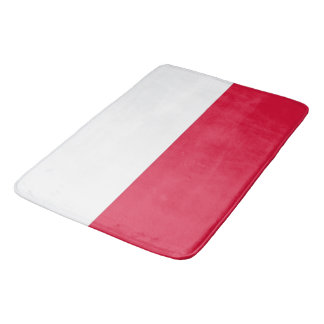 Large bath mat with flag of Poland