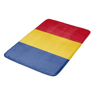 Large bath mat with flag of Romania
