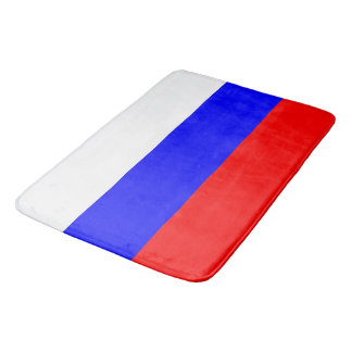 Large bath mat with flag of Russia