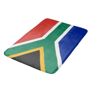 Large bath mat with flag of South Africa