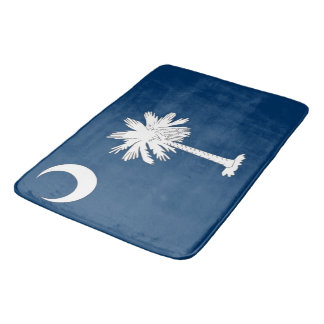Large bath mat with flag of South Carolina, USA