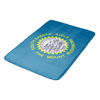 Large bath mat with flag of South Dakota, USA