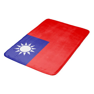 Large bath mat with flag of Taiwan