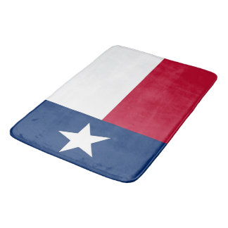 Large bath mat with flag of Texas, USA