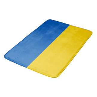 Large bath mat with flag of Ukraine