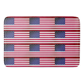 Large bath mat with flag of USA