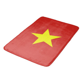 Large bath mat with flag of Vietnam