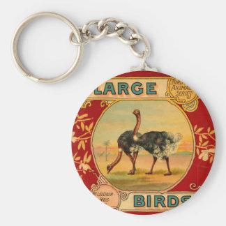 Large Birds Basic Round Button Keychain