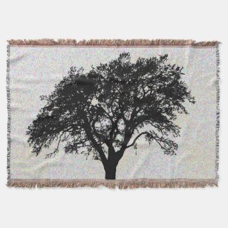 Large Black Tree Print Design Beautiful Throw Blanket