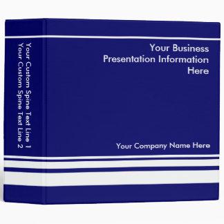 Large Blue Custom Business Presentation Binder