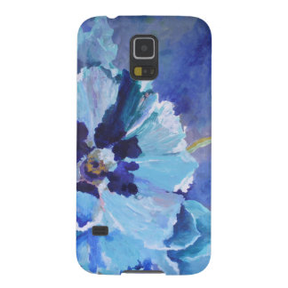 Large Blue Poppies Galaxy S5 Case