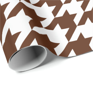 Large Brown and White Houndstooth