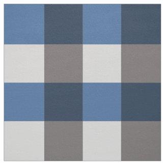 Large Buffalo Check, grey / gray and blue Fabric