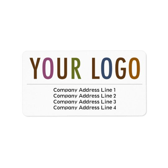 Large Business Return Address Labels Custom Logo