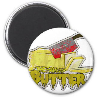 Large Butter Logo.png 2 Inch Round Magnet