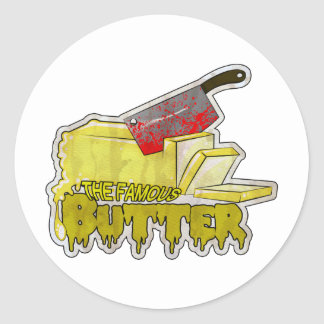 Large Butter Logo.png Round Sticker