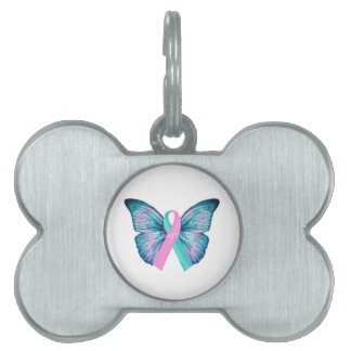 Large Butterfly  Mutant Strong logo Pet Name Tag