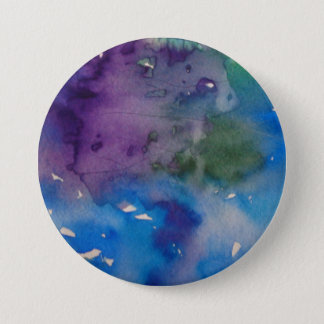 """Large button 3"""" round with abstract design"""