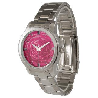 Large Camellia Blossom, Fuchsia Pink Watch
