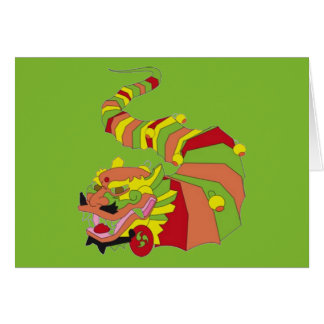 Large Chinese Dragon Card