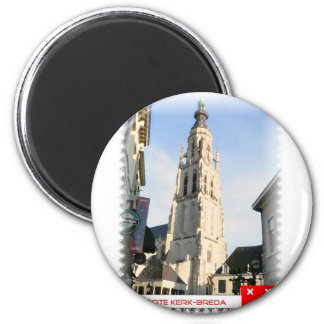 Large church, Breda, the Netherlands 2 Inch Round Magnet
