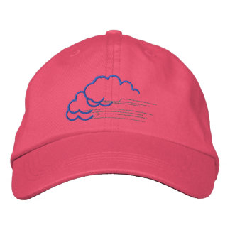 Large Clouds Embroidered Hat