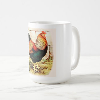 Large Coffee Mug Country  Rooster Rise and Shine
