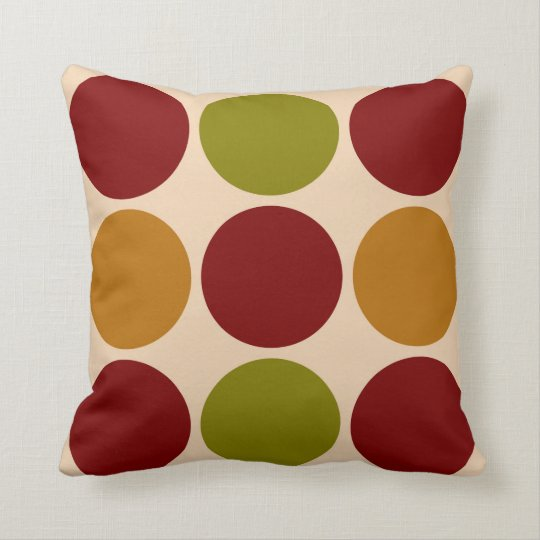 Large Colourful Dots Pillow