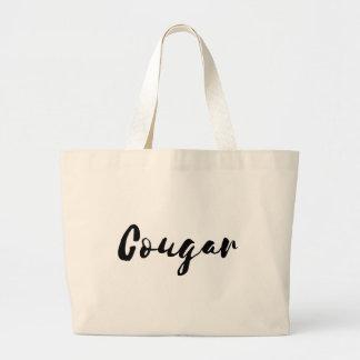 Large Cougar Tote Bag